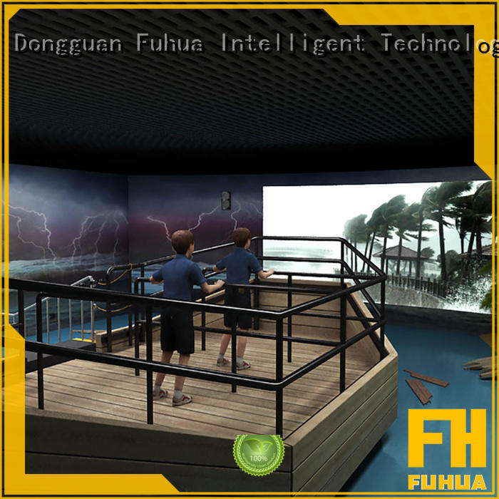 Fuhua Best Motion 3D Typhoon Experience Education Voyage Simulator