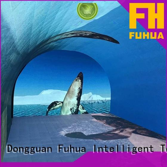 Fuhua Transparent led wall screen for kids for museum