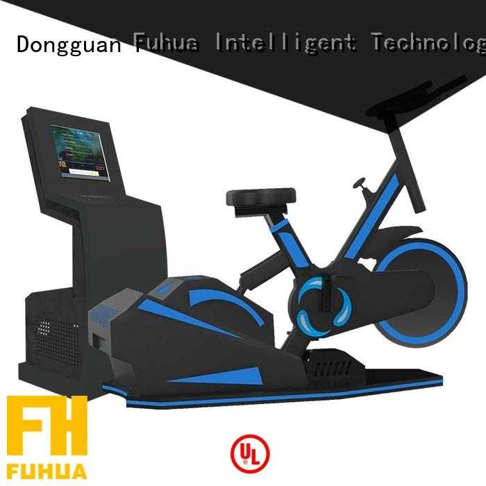 Fuhua cool vr bike dynamic control for fitness game center