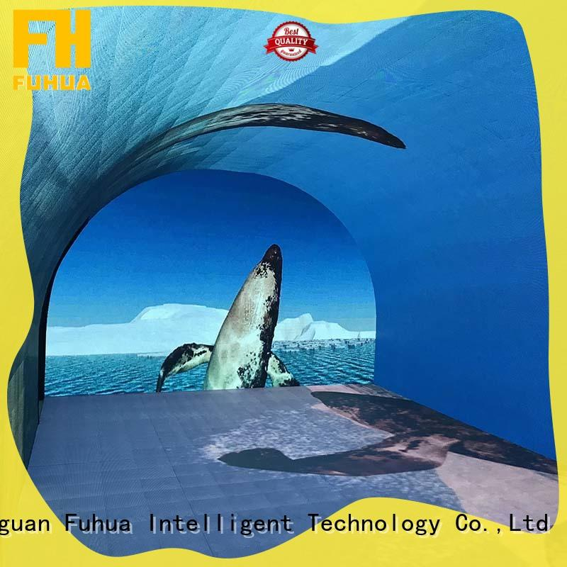 automatic 180 degree curved projection screen for sale for commercial amusement Fuhua