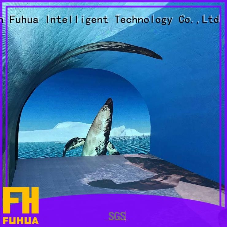 Fuhua Attractive curved projection screen for commercial amusement
