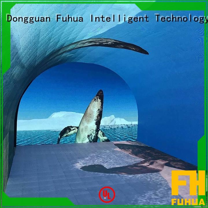Fuhua floor curved projection screen manufacture for tourist attractions