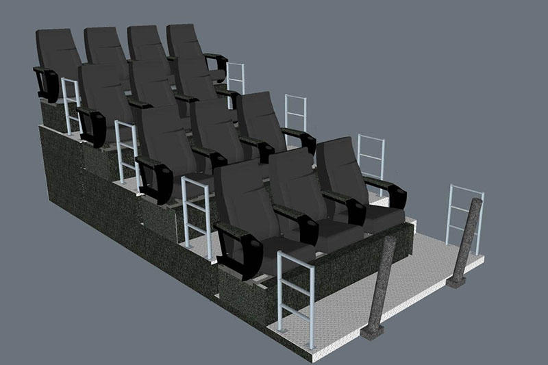 Fuhua equipment mobile theater dynamic seats for theme parks-3