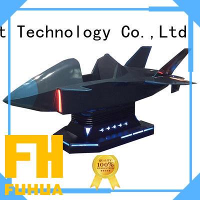 Interactive VR Flight Game Fighter Aircraft Fiberglass Warplane Cockpit