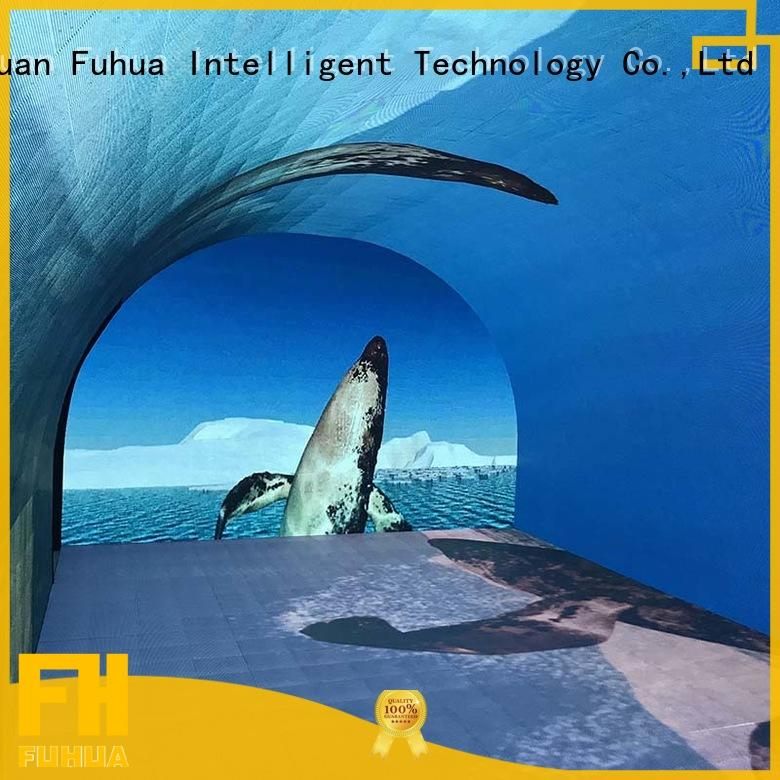 Fuhua tunnel led wall screen for kids for commercial amusement