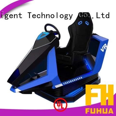 Attractive vr racing simulator metal dynamic control technology for park