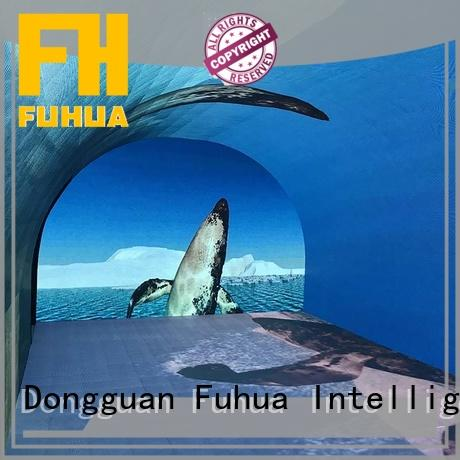 Fuhua high performance curved projection screen for aquariums